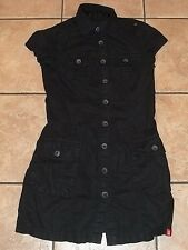Ladies ESPRIT EDC~BLACK SHIRT DRESS~size 0~NEW~Linen Cotton Button Downt~Short