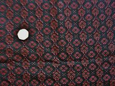 ITALIAN   JACQUARD-BLACK/RED -DRESS FABRIC