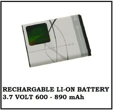 Replaceable Li-On Battery for Nokia Phones Model BL-5B 3.7V 890mAh