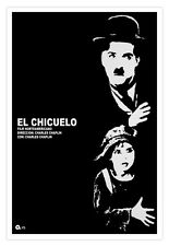 "Cuban movie Poster for""The KID""Charles Claplin.Chicuelo.Black and White film"