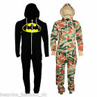 New Plus Size Unisex Hooded Onesie All In One Piece Mens Womens Jumpsuit