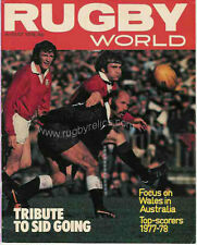 RUGBY WORLD MAGAZINE AUGUST 1978 - PERFECT GIFT FOR A FAN BORN IN THIS MONTH