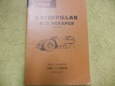 Caterpillar 632 79F1-  Tractor Manual Service Parts Book