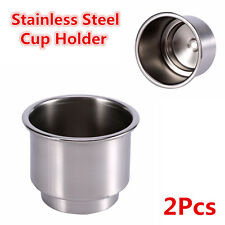 2x Stainless Steel Cup Drink Bottle Stand Holder Base For Car Truck Boat Camper