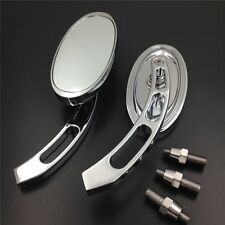 For Harley Davidson softail FatBoy Sportster Alloy Oval Custom Mirror