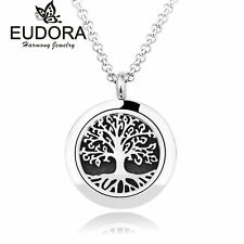 Life Tree Stainless Steel Aromatherapy Necklace Diffuser Pendant Perfume Locket