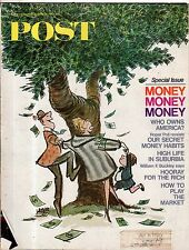 1967 Saturday Evening Post December 30 - Money; Texas; Marin County;Millionaires