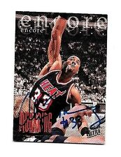 ALONZO MOURNING 1995-96 FLEER ULTRA ENCORE CERTIFIED AUTOGRAPH ~ HOF