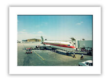 Mounted photographic print - Continental Airlines Boeing 727 (11 x 14 inch)