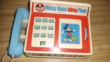 Vintage Mickey Mouse Talking Phone Romper Room 1974 Toy Disney Parts