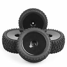 CA 4Pcs 1/10 Scale RC Off-Road Buggy Car Front & Rear Tires and Wheel 25026+2701