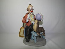 Vintage Arnart Porcelain Clown with Seal and Ball Tricks Circus