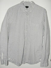 J.CREW*NICE!! SECRET WASH SHIRT IN STONE BLUE GRAY GINGHAM SHIRT A1231* L