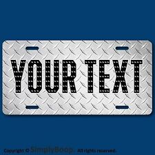Your Text Name Personalized Custom License Plate Auto Car Tag DIAMOND PLATE Look