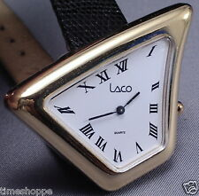 RARE VINTAGE WILD DESIGN ASYMMETRICAL SHAPED MANS WATCH - RUNS/LOOKS GREAT - WOW