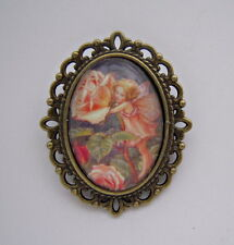 Vintage Style Flower Fairies Rose Fairy Brooch