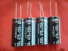 4 PCS 470UF 470mfd 250V Electrolytic Capacitor 105 degrees USA FREE SHIPPING