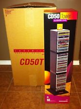 (3) LaserLine CD/DVD 50T Storage Organizing Towers ~ 150 Total Slots ~New In Box