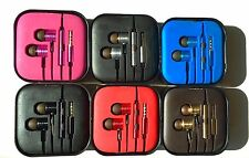 Metal in ear Noise Isolating headphones earphones with mic + remote+ Multi Tips