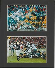 "GREEN BAY PACKERS BART STARR ""ICE BOWL"" WINNING TOUCHDOWN MATTED PHOTOS"