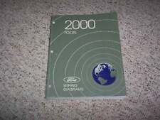 2000 Ford Focus Electrical Wiring Diagram Manual SE ZX3 XL ZTS 2.0L 4Cyl