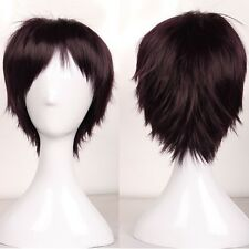 Lady Women Short Costume Wigs Full Head Layered Hair Multi-Color Cosplay Wig CG