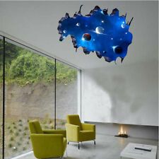 3D Blue Outer Space Removable Vinyl Art Home Decor Galaxy Wall Sticker Decals