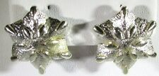 Silver Tone Earrings Clip On with a Star Shaped Flower by Coro