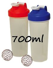 2 x Protein Shaker Blender Mixer Bottle Cup Nutrition Protein Bottle 700ml NEW