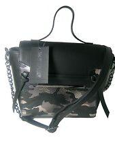 New Steve Madden Flap Tote Shoulder Bag Purse DR110063 Black Multiple
