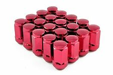 Capped Wheel Nuts STEEL - RED - M12 x 1.25 Nissan Subaru Skyline 200SX
