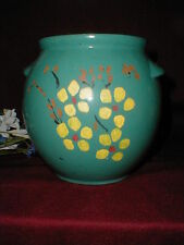 Robinson Ransbottom Crown Pottery Roseville OH Cookie Jar w Painted Flowers 1949