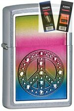 Zippo 24898 peace for all Lighter with *FLINT & WICK GIFT SET*