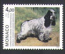 Monaco 1995 American Cocker Spaniel/Dogs/Animals/Nature/Pets 1v (n34739)
