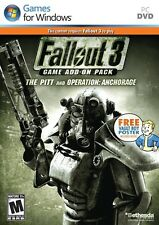 FALLOUT 3 THE PITT AND OPERATION ANCHORAGE ADD-ON for PC SEALED NEW