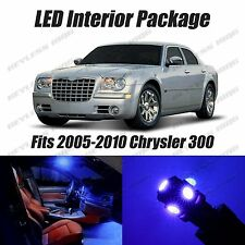 14pcs LED BLUE Light Interior License Package Kit For Chrysler 300c 2005-2010