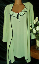 Nightgown, Peignoir Set. L most XLs. NWOT by Nine & Co.  Light green chiffon.