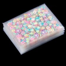50 X Sheets 3D Design Nail Art Stickers Tips Decal Flower Nail Tips Beauty