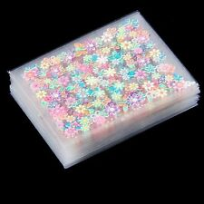 50 Sheets 3D Nail Art Stickers Manicure Tips Mix Flower Decals DIY Deco Type B