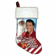 Here Comes Santa Claus Elvis Presley EPE Collectible Christmas Stocking   NEW