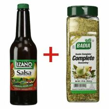 2 X Lizano Salsa 24 oz + 2 X Badia  Complete Seasoning 1.75 Lbs BUNDLE
