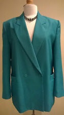 Classic Woman vibrant green hip length tailored jacket/blazer UK 16/42