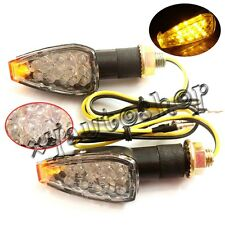 UNIVERSAL MOTORCYCLE MINI 14 LED TURN SIGNALS INDICATORS BLINKER LIGHT AMBER 2pc