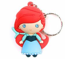 "Disney 3D Figural Keyring Princesses Series 7 ARIEL 3"" KEYCHAIN Little Mermaid"