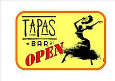 Cafe Sign Vintage Style Tapas Bar Sign Coffee Spanish Tapas Sign Kitchen Sign
