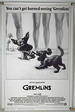 RARE GREMLINS ROLLED ORIG 1SH MOVIE POSTER GIZMO COPPERTONE BEACH PARODY (1984)