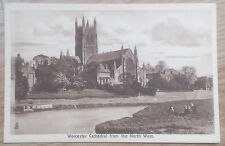 POSTCARD: (SEPIA), WORCESTER CATHEDRAL FROM NORTH WEST: c1904-18