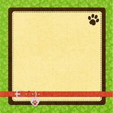 Scrapbook Paper 3D 12 x 12 inches PETS 2 Sheets   BBE
