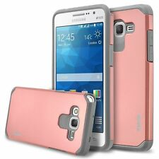 RANZ® Samsung Galaxy Grand Prime Rose Gold Impact Dual Layer Shockproof Case