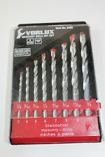 Vorlux 8pz masonary PIETRA MATTONI Trapano Set Metric / Imperial HQ Carbide Tips
